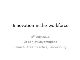 Innovation in the Workforce