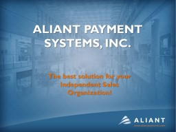 Aliant Payment systems,