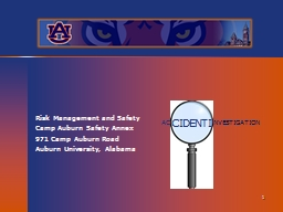 Risk Management and Safety PowerPoint PPT Presentation