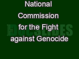 National Commission for the Fight against Genocide