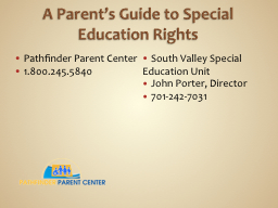 A Parent's Guide to Special Education Rights