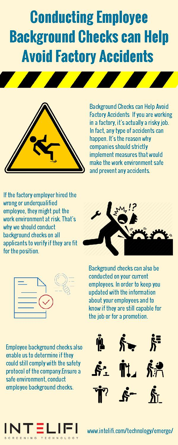 Conducting Employee Background Checks can Help Avoid Factory Accidents