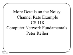 More Details on the Noisy Channel Rate Example