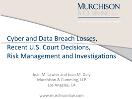 Cyber and Data Breach Losses, PowerPoint PPT Presentation