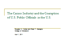 The Casino Industry and the Corruption of U.S. Public Offic