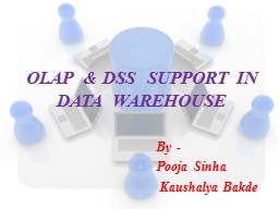 OLAP  & DSS  SUPPORT IN DATA  WAREHOUSE