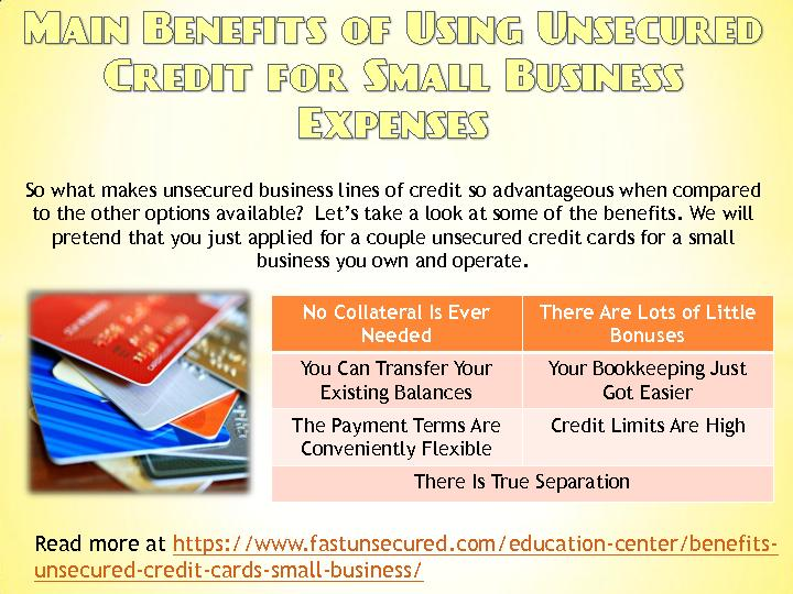 Main Benefits of Using Unsecured Credit for Small Business Expenses - FastUnsecured.com