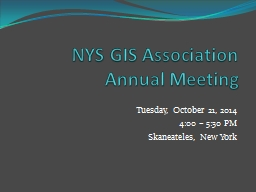 NYS GIS Association Annual Meeting