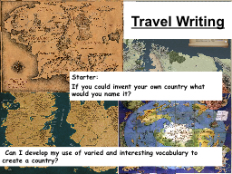 Travel Writing