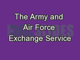 The Army and Air Force Exchange Service