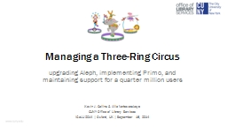 Managing a Three-Ring Circus