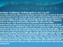 Bollywood loses over Rs 200