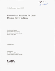 LIP G  NASA Contractor Report  Photovoltaic Receivers