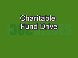 Charitable Fund Drive