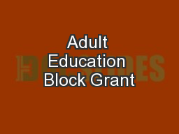 Adult Education Block Grant