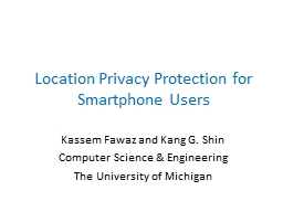 Location Privacy Protection for Smartphone Users