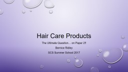 Hair Care Products PowerPoint PPT Presentation