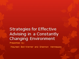 Strategies for Effective