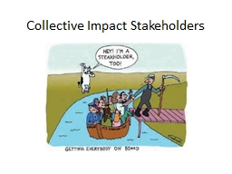 Collective Impact Stakeholders