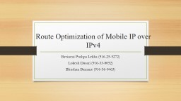 Route Optimization of Mobile IP over IPv4