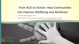 From ACEs to Action: How Communities Can Improve Wellbein