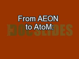 From AEON to AtoM: