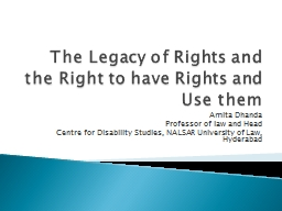 The Legacy of Rights and the Right to have Rights and Use t