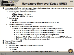 Mandatory Removal Dates (