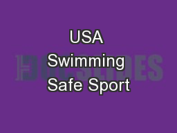 USA Swimming Safe Sport