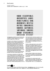 Julia Muggenburg is pleased to announce Bare Essential