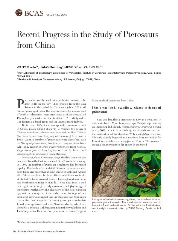 Bulletin of the Chinese Academy of SciencesBCASVol.24 No.2 2010 ...
