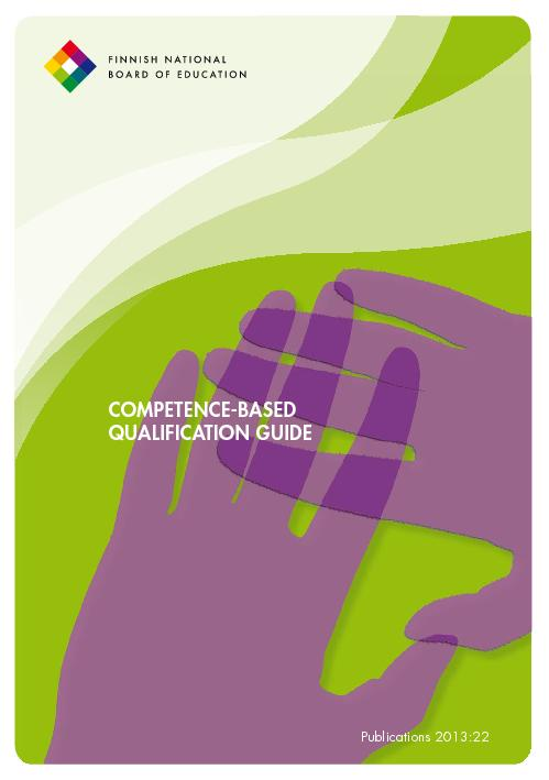 COMPETENCE-BASED QUALIFICATION GUIDE