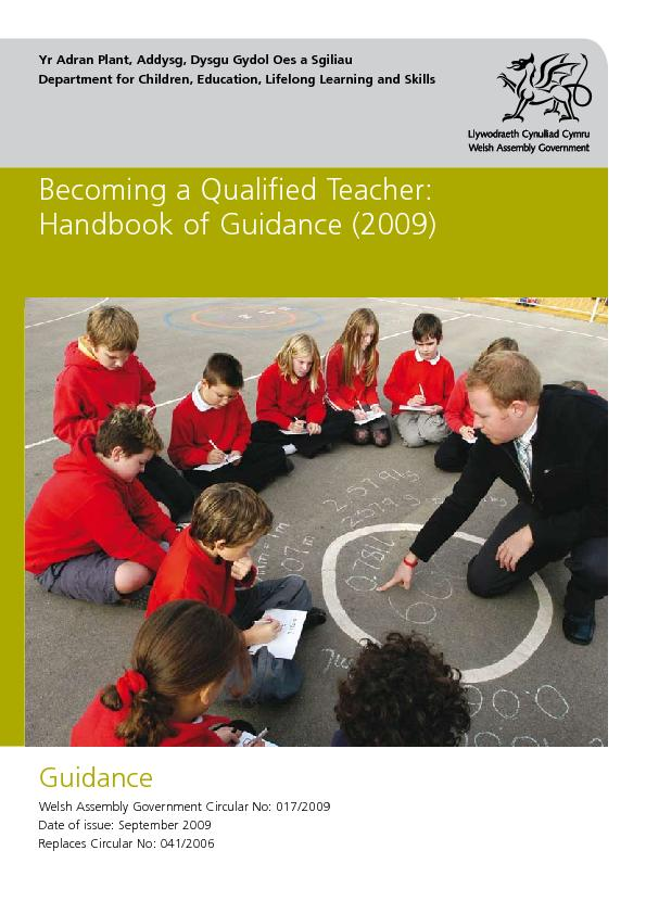 Becoming a Qualified Teacher: Handbook of Guidance (2009)September 200