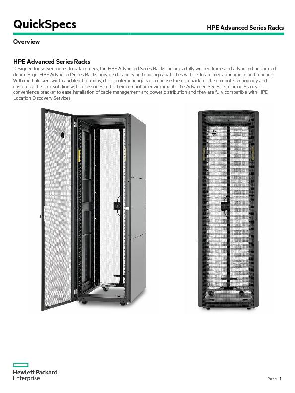 HPE Advanced Series Racks
