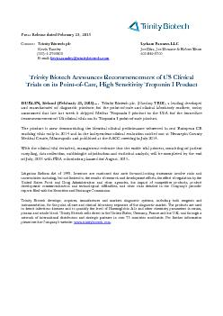Press Release dated