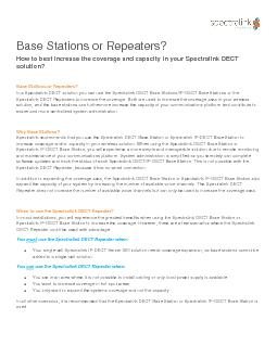 Base Stations or Repeaters?