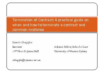 [2011] FCA 1031) !!Termination for convenience clause is