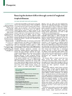 www.thelancet.comVol 373   May 2, 2009Rescuing the bottom billion thro