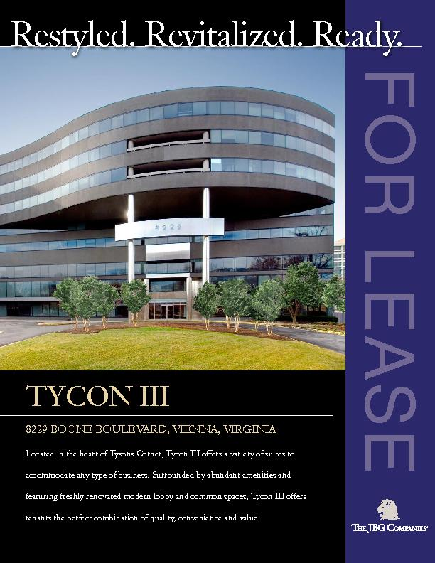Located in the heart of Tysons Corner, Tycon III offers a variety of s