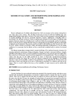 Vol. 43, No. 1-2, March-June 2006, pp. 31-48 SEISMIC EVALUATION AND RE
