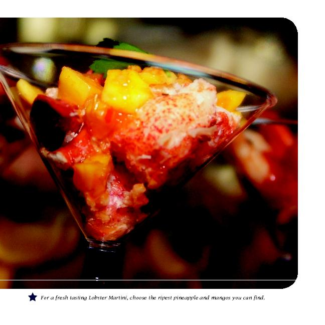 For a fresh tasting Lobster Martini, choose the ripest pineapple and m PowerPoint PPT Presentation