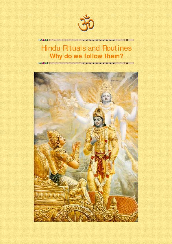 Hindu Rituals and Routines PowerPoint PPT Presentation