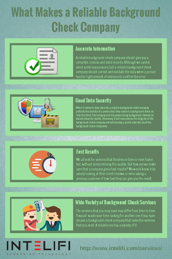 What Makes a Reliable Background Check Company