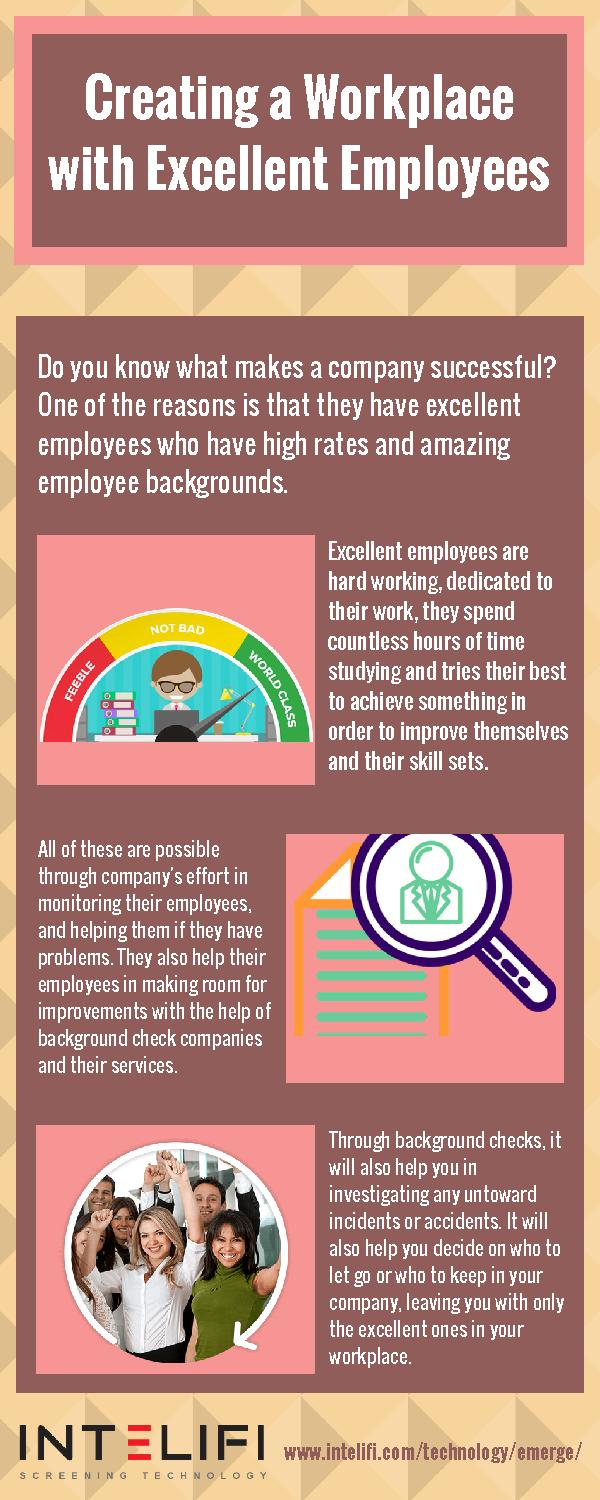 Creating a Workplace with Excellent Employees