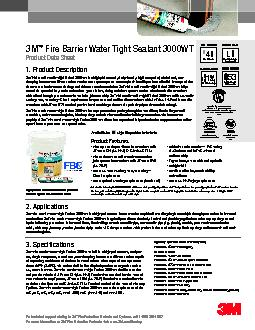 Fire Barrier Water Tight Sealant 3000WT