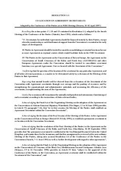 RESOLUTION 5.5CO-LOCATION OF AGREEMENT SECRETARIATSAdopted by the Conf