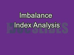 Imbalance Index Analysis