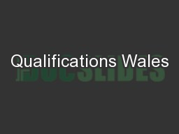 Qualifications Wales