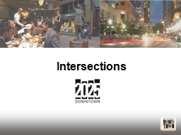 Intersections PowerPoint PPT Presentation