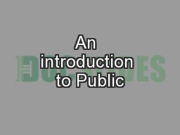 An  introduction to Public